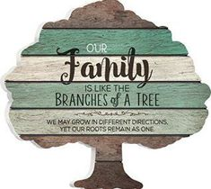 I love the look of distressed wood wall decor in fact reclaimed wood wall decor is more popular than ever. Whether it be barnwood wall art, distressed wall clocks or even rustic wooden art you can find something cool for your home. Our Family is Like the Branches on a Tree 12 x 13 Tree Shape Wood Wall Art Sign