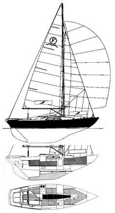 International Folkboat drawing on sailboatdata.com