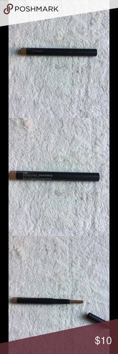 """MAC eyebrow pencil MAC """"cork"""" big brow pencil. It's been used a few times but still has a lot left. Perfect for filling in your brows. MAC Cosmetics Makeup Eyebrow Filler"""