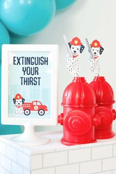 Check out this fun vintage fire truck birthday party! The drinks served in hydrant bottles are so cool! See more party ideas and share yours at CatchMyParty.com Party Food For Adults, Girl Birthday, Birthday Parties, Cocktail Ideas, Firetruck, Packaging Ideas, Party Drinks, Party Photos, Best Part Of Me
