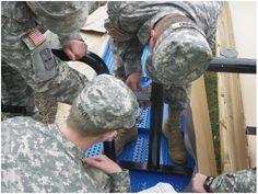 Cadets assembling tables for Vista