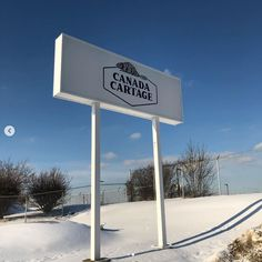 Custom Signs made and installed by Signarama Dixie for Canada Cartage Custom Business Signs, Channel Letters, Sign Company, Wind Turbine, Banner, Canada, Interior Design, Banner Stands, Nest Design