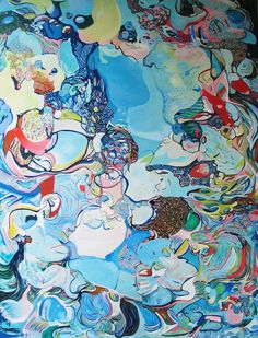 "Saatchi Art Artist DIANA ROIG; Painting, ""The Big Blues."" #art"