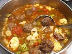 Paleo Meatball Soup and more paleo ground beef recipes on MyNaturalFamily.com #paleo #groundbeef #recipes