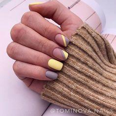 Fabulous Nails, Perfect Nails, Colorful Nail, Nail Polish, Nagel Gel, Yellow Nails, Trendy Nails, Manicures, Nails Inspiration
