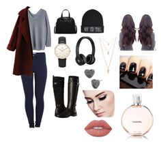 """""""Untitled #537"""" by oliviamarvel on Polyvore featuring Pieces, WithChic, Furla, Daniel Wellington, Aerosoles, Beats by Dr. Dre, Vans, Betsey Johnson, Forever 21 and Lime Crime"""