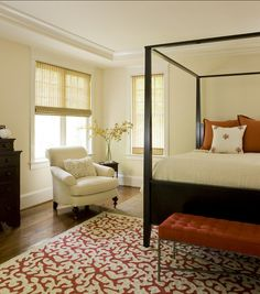 Bedroom Paint Color Ideas: Paint Color: trim Color is Dove White and the wall color is Barely Beige.