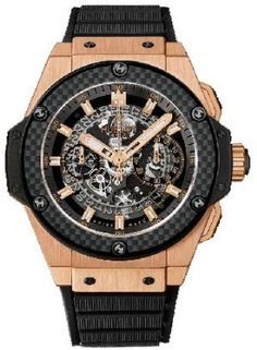 Hublot King Power Unico Black Dial King Gold Automatic Mens Watch
