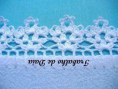 Crochet Edging Patterns, Crochet Lace Edging, Crochet Tunic, Crochet Borders, Love Crochet, Beautiful Crochet, Crochet Baby, Crochet Butterfly, Crochet Flowers