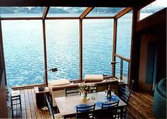 dining rooms, lake houses, ocean views, window, dream, the view, loft, sea, rental houses