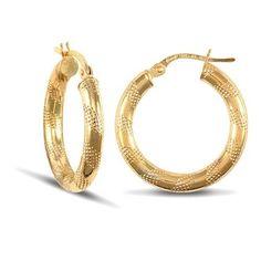 New Gold Creole Hooped Earrings Rose Jewelry, Jewellery, Erin Rose, Bracelets, Earrings, Gold, Ebay, Ear Rings, Jewels