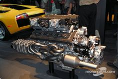 The Lamborghini Murcielago engine at North American International Auto Show, Detroit High-Res Professional Motorsports Photography V12 Engine, Motor Engine, Truck Engine, Jets, Bugatti, Maserati, Performance Engines, Race Engines, Electric Motor
