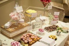 Candy buffet table by It's Fine and Candy