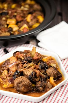Moroccan-Style Stew - You know you want a big spoonful of this savory-sweet stew…