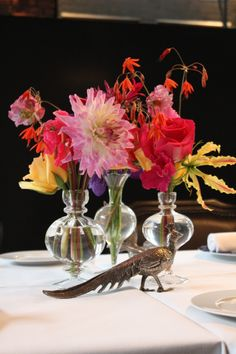 Table decoration - Dutch Flowers - Menno Kroon - Tunes Restaurant by Schilo - Conservatorium Hotel Amsterdam