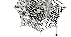 Tangled Webs :: Easy Zentangle for Kids and Adults. A fun art idea for Halloween with Spider Webs
