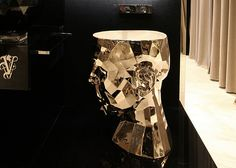 An Angular Head Becomes A Sink in The Forma Mentis Washbasin.