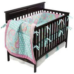 Aqua Pixie Baby 4pc Crib Bedding Set by My Baby Sam