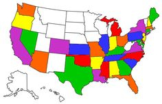 Visited States Map Time Away Pinterest