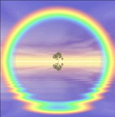 La reflexión hace un arco iris circular ///// Reflection causes circular rainbow Love Rainbow, Over The Rainbow, Rainbow Colors, Rainbow Prism, Rainbow Gif, Circle Rainbow, Rainbow Cartoon, White Rainbow, All Nature
