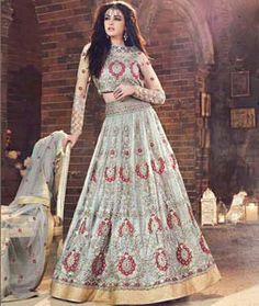 Buy Gray Net Indo Western Lehenga Choli 78063 online at best price from vast collection of Lehenga Choli and Chaniya Choli at Indianclothstore.com.