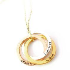 #ailekolyesi #gümüş #ailekombini #canımoğlum #canımkızım Name Earrings, Name Necklace, Initial Necklace, Family Necklace, Circle Necklace, Mother Gifts, Gifts For Mom, Mom Ring, Jewelry Rings