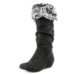 Report Women's Enfield Black Fashion Knee-High Boot Size 8.5 M #REPORT #FashionKneeHigh