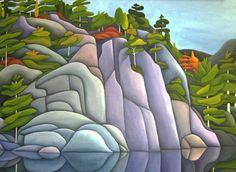 Deb Gibson, Canadian Artist, Kilarney, acrylic on canvaas Watercolor Landscape, Abstract Landscape, Landscape Paintings, Watercolor Art, Canadian Painters, Canadian Artists, Landscape Quilts, Artist Portfolio, Naive Art