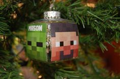 PERSONALIZED Handmade Decoupage Ornament for the Minecraft video gamer Fave Christmas Tree Ornament This video game Inspired Decoupage Ornament is Clear acrylic so that it is not easily broken It Minecraft Tree, Minecraft Projects, Christian Collins, Christmas Tree Ornaments, Kids Ornament, Decoupage, Holiday Decor, Street Fair, Handmade Gifts