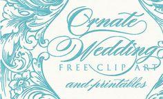 Free vintage wedding printables