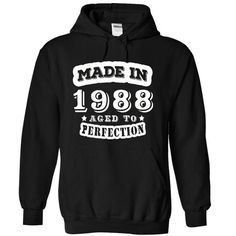 Made In Perfection 1988 T Shirts, Hoodies, Sweatshirts. GET ONE ==> https://www.sunfrog.com/Birth-Years/Made-In--Perfection--1988--JD-1494-Black-17616582-Hoodie.html?41382