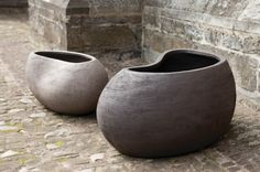 Hand-crafted planters that will last a lifetime. These pots are sculptural pieces for the home and garden that are constructed using unique clay from different regions of Germany. They are made using moulds and are slowly hand carved and sculpted by a team of around 20 master craftspeople which effectively gives each planters their one of a kind aesthetic.... Read more »