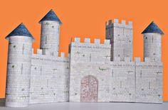 Un château fort en carton à imprimer : Le château fort CHAMBOULE-TOUT | Tomlitoo