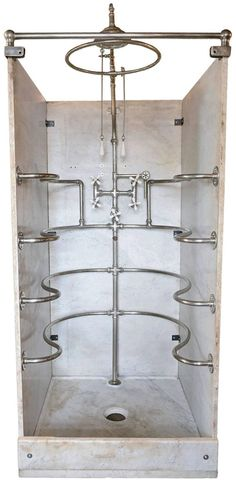 'Rib Cage' Wolfe, circa 1900 Plumbing Fixtures, Bathroom Fixtures, Attic Bathroom, Victorian Bathroom, Vintage Interiors, Victorian Interiors, Gifts For Photographers, Architectural Antiques, Square Photos