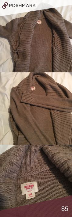 Brown cardigan Brown cardigan that wraps around.  Falls slightly below waist line Mossimo Supply Co Sweaters Cardigans