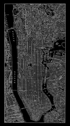 1938 New York City Manhattan Street Map Vintage by TheMapShop