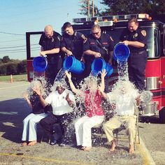 Mayor @epartin and members of Cayce Council complete the #ALSChallenge