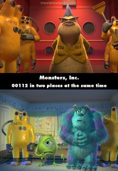 Monsters, Inc. movie mistake picture!!!!!! i totally had a mini heart attack when I saw the mistake last time I watched this movie!!!!
