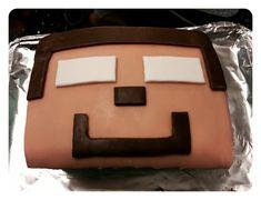 Simple Minecraft Herobrine cake