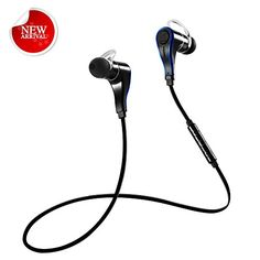 Special Offers - Bluetooth Headphones Grandbeing V4.0 Voice Command Bluetooth Headset Wireless Stereo Sport Earbuds Noise Canceling Earphones with Mic for iPhone 6s iPhone 6s Plus and Android Phones Black Blue - In stock & Free Shipping. You can save more money! Check It (May 13 2016 at 10:10AM) >> http://ift.tt/222TBmx
