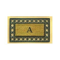 """Geo Crafts Tuffcor with Border Doormat Rug Size: 18"""" x 30"""", Letter:"""