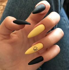 Edgy Nails, Grunge Nails, Stylish Nails, Matte Nails, Trendy Nails, Swag Nails, Gel Nails, Edgy Nail Art, Black Nail Art
