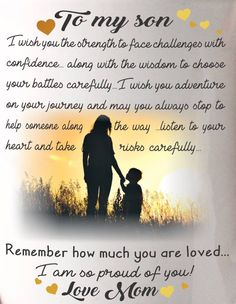 153 Best My Son Quotes Images Sons Messages Thinking About You