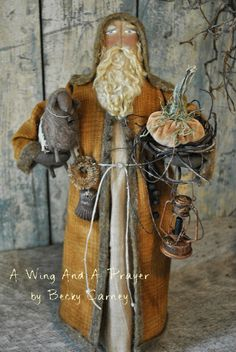 Earlywork- A Wing and a Prayer Christmas Booth, Cowboy Christmas, Primitive Christmas, Father Christmas, Christmas Love, Country Christmas, Vintage Christmas, Christmas Decorations, Christmas Christmas