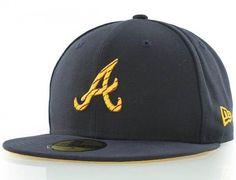 Atlanta Braves Logo Chain 59Fifty Fitted Baseball Cap by NEW ERA x MLB