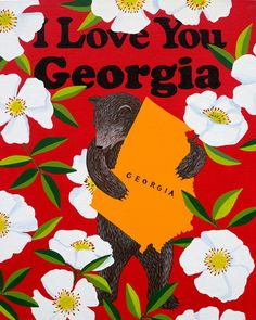 Shout-out to the Peach State featuring Georgia's state flower, the beautiful Cherokee Rose. Quality archival print in ready to frame sizes. Free shipping in US.