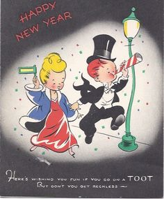 It's time to celebrate in vintage style! #vintage #New_Years #card