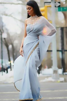 Rebel in Pastels - Breaking the Stereotype In Sarees
