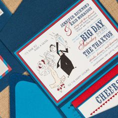 Speak Easy Wedding Invitations by Pretty Together featuring an Art Deco Illustration.
