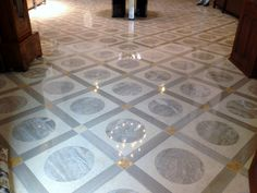 Marble floor cleaning, grout cleaning, diamond honing, diamond polishing, powder polishing, sealing and maintenance services Weybridge Surrey